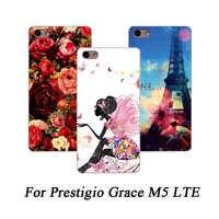 Für Prestigio Gnade M5 LTE Telefon Fall Print Blumen tiere und Türme Painted Abdeckung Für Prestigio Gnade M5 PSP5511 DUO abdeckungen