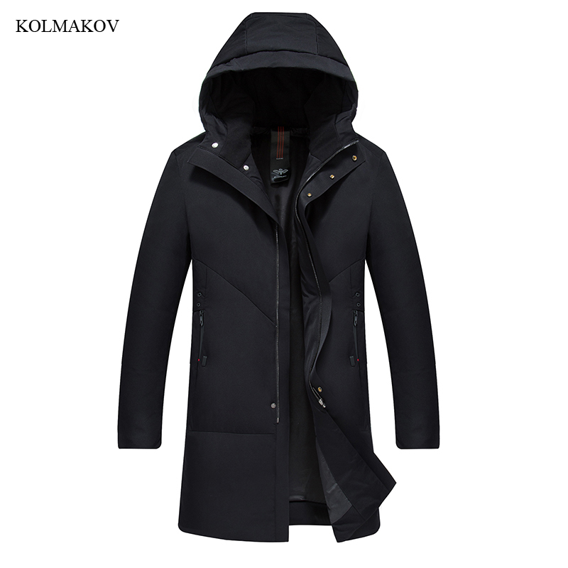 2018 New Arrival Style Men Boutique Leisure   Down     Coats   Fashion Casual Hooded Solid Warm Long   Down     Coat   Clothes Plus Size M-4XL