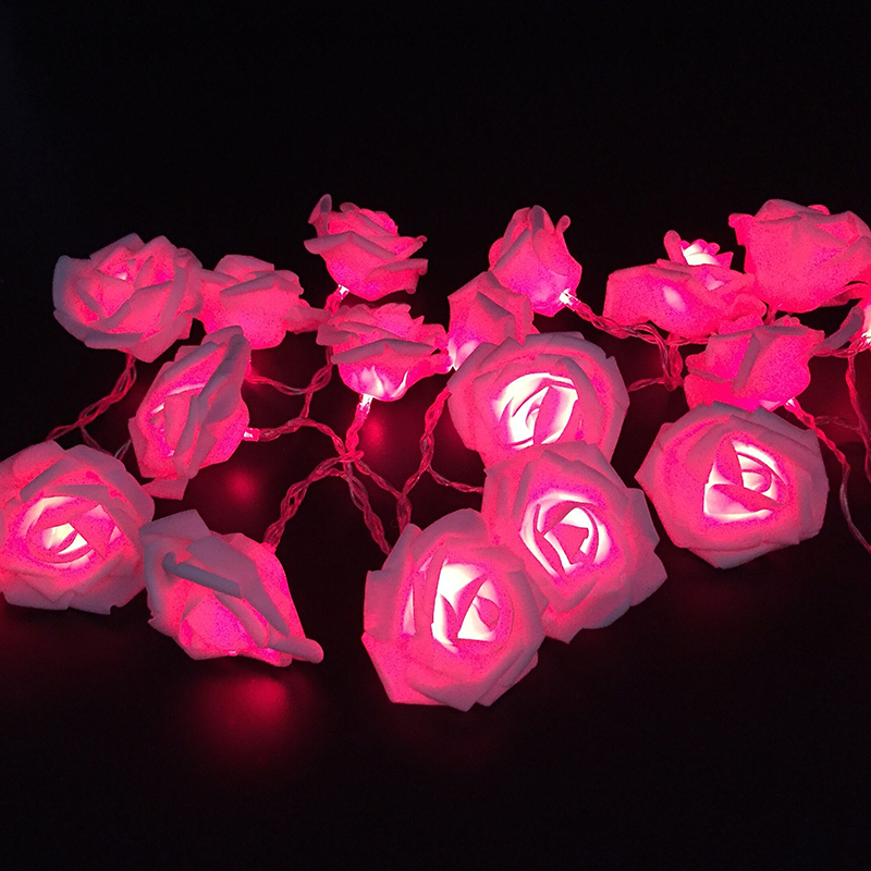 Led flower fairy string light Novelty 20leds wedding decoration chrismas light led Rose indoor garland New