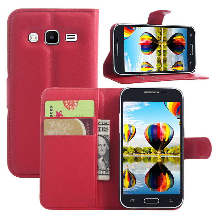 Wallet Flip Leather <font><b>Case</b></font> For <font><b>Samsung</b></font> <font><b>Galaxy</b></font> <font><b>Core</b></font> <font><b>Prime</b></font> VE <font><b>G360</b></font> G361 G360H G361H phone Leather back Cover <font><b>case</b></font> with Stand Etui> image