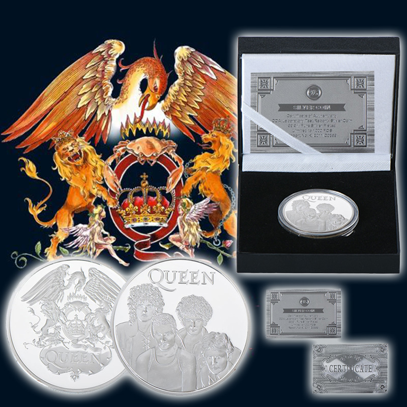 WR Queen Metal Challenge Coin Queen Silver Plated
