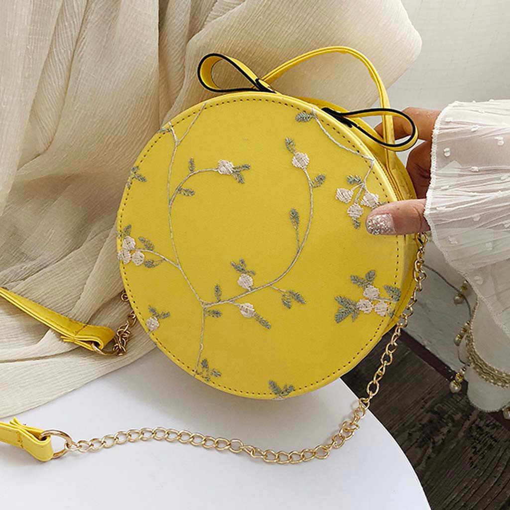 Do Laço da Forma das mulheres Frescas Bolsa Crossbody Saco Pequeno de Cor Sólida Rodada Bolsa De Ombro Crossbody Saco Titular do Cartão bolsa de Moedas
