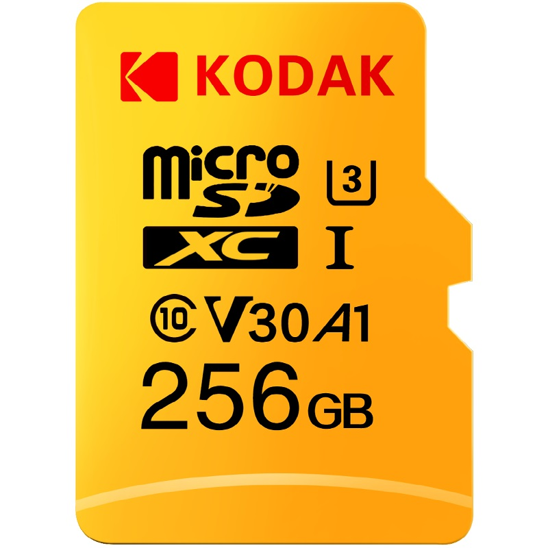 Kodak micro sd 128 gb class 10 U3 4 K cartao de memoria 32 gb 64 gb карта флэш-памяти 256 GB tarjeta micro sd
