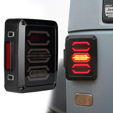 Smoke Lens Red LED Tail Brake Light Assembly W/Turn Signal & Back Up For Jeep Wrangler JK JKU Sports, Sahara, Freedom Rubicon
