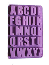 English Capital Letter Mold For Cake Chocolate Making Handmade Concrete Cement Alphabet Letters Silicone Mould