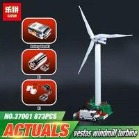 Lepin 37001 873Pcs Genuine Street Series Vestas Wind Turbine Children Building Blocks Bricks Toys Model Gifts