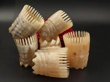 Natural horn comb massage head bath shampoo comb Hairbrush Hairdressing Styling Tools SY26D5