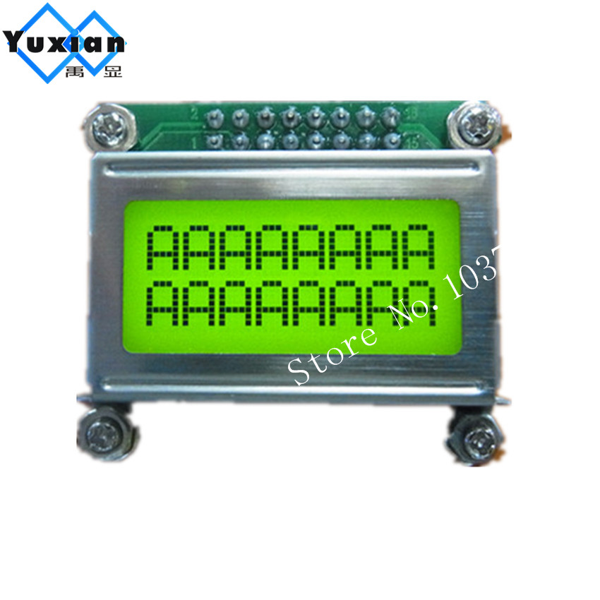 LCD mini small 0802 lcd display module 8*2 character green led backlight Laurel lcd factory pcb size 40*35mm LC082H1 HD44780