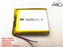 2 개/몫 3.7 v, 5000 mah, [955465] plib; 태블릿 pc, 전원 은행, 전자 책에 대 한 폴리머 리튬 이온 배터리/리튬 이온 배터리;