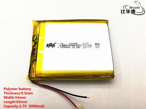 Image 1 - 2pcs/lot 3.7V,5000mAH,[955465] PLIB; polymer lithium ion battery / Li ion battery for tablet pc,power bank,E BOOK;