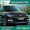 Free Shipping 12V 6000k LED DRL Daytime Running Light Case For VW Tiguan 2013 Fog Lamp