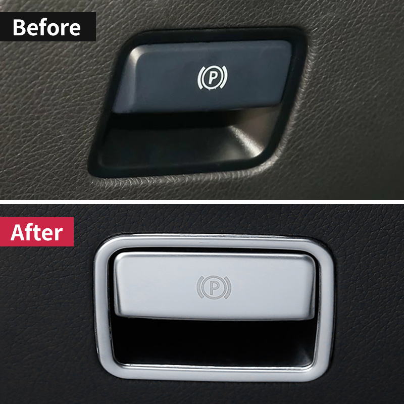 For Mercedes Benz ML350 2012 320 GL450  amg gle  W166 GLS63 350d  A w176 B W246 GLA X156 Parking Hand Brake Sticker accessories