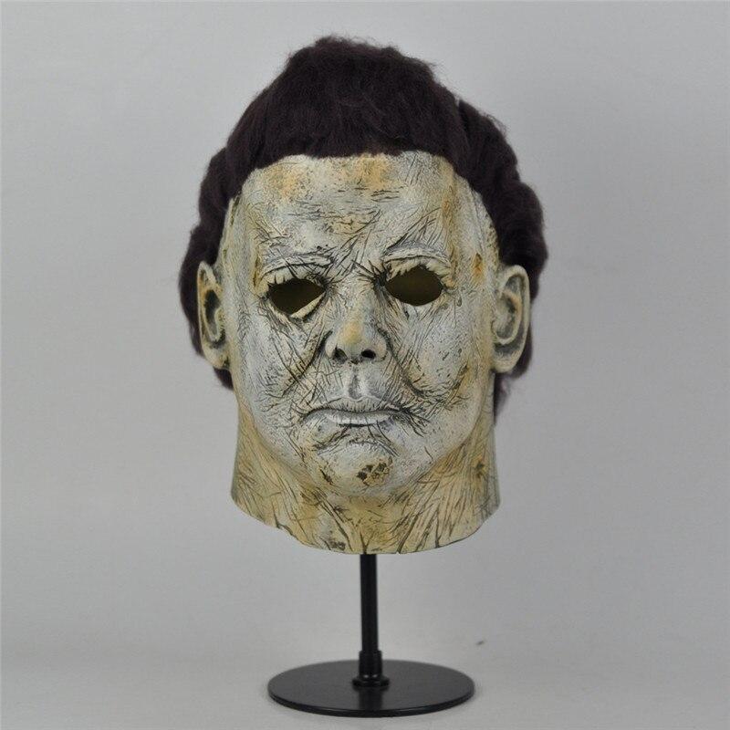 Nouvelles souris Effrayants Michael Myers Masque Latex Tour du Parti Cosplay Masque avec Brun Perruque Halloween Effrayant Film Masque Dropshipping