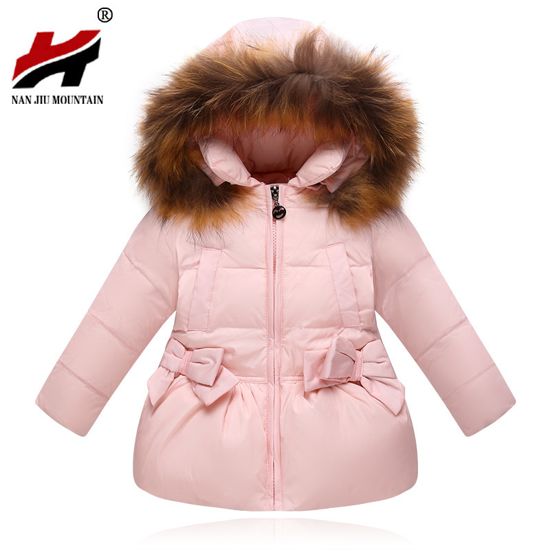 2017 New Fashion Baby Girls Jackets Bow Tie Autumn Winter Jacket Kids Warm Hooded Children Outerwear Coat Boys Girls Clothes 2016 winter new soft bottom solid color baby shoes for little boys and girls plus velvet warm baby toddler shoes free shipping
