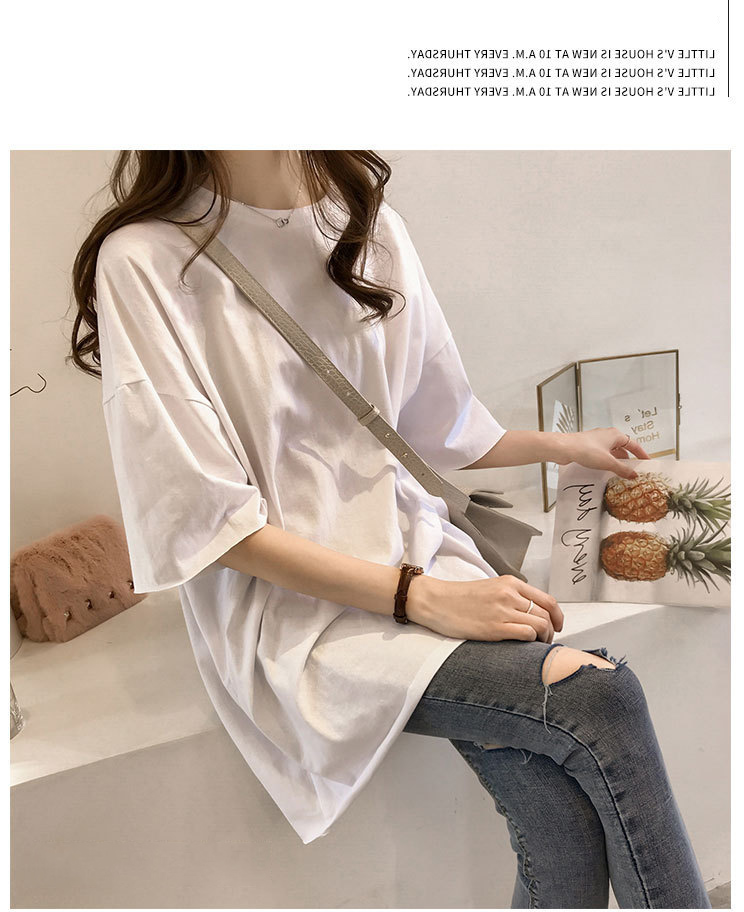 Candy Color Short Sleeve Loose T-Shirts Girls Summer 19 New Cool O-Neck Boyfriend Student Women T-Shirt Lady Tops Plus Size 26