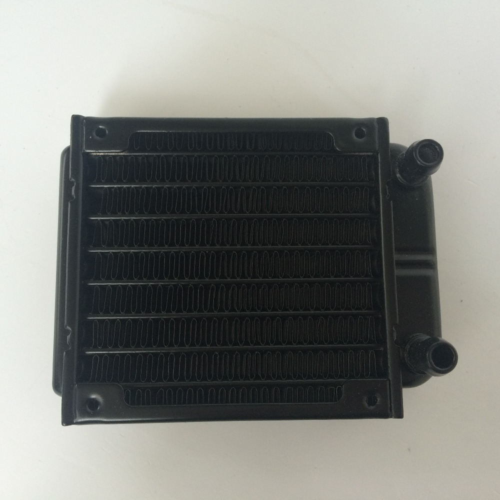 Купить с кэшбэком 80mm Straight Mouth Water Cooling Row Radiator Heat Exchanger Computer PC Cooling Row Industrial Row