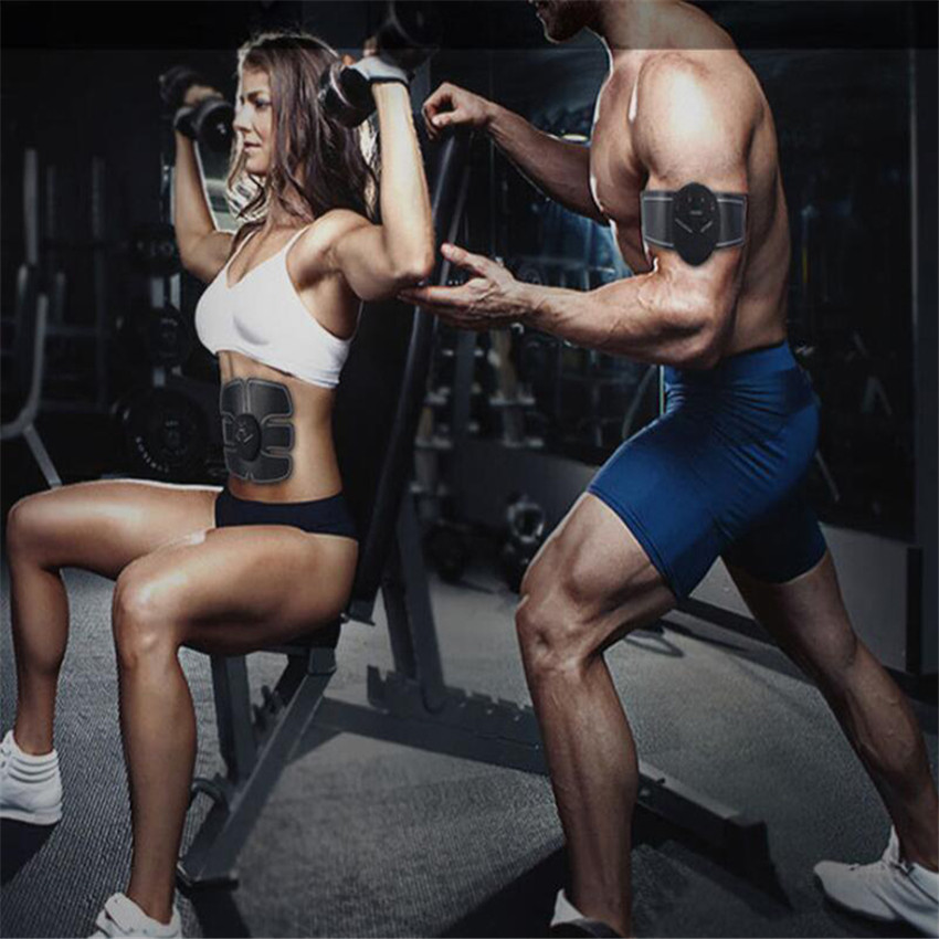 Smart Fitness Muscle Stimulator Abdominal For training apparatus Electric Muscle Belly Exercises Abdominal Training Machine Gym in Vibration Fitness Massager from Sports Entertainment
