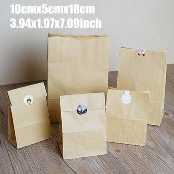 Bolsas De Papel Kraft para pastel, 10x5x18cm, 50 Uds., envase para galletas,...