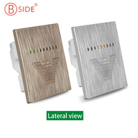 ECOFIVE ECO 5 Indoor Formaldehyde(HCHO) Monitor Detector Switches and Sockets Mounted Formaldehyde Tester Golden Color