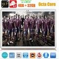 DHL Livre Android 5.1 OS 10 polegada tablet pc Octa Núcleo 4 GB 32 GB 8 Núcleos 1280*800 IPS Caçoa o Presente Tablets MID 3G WCDMA 4G LTE 10.1