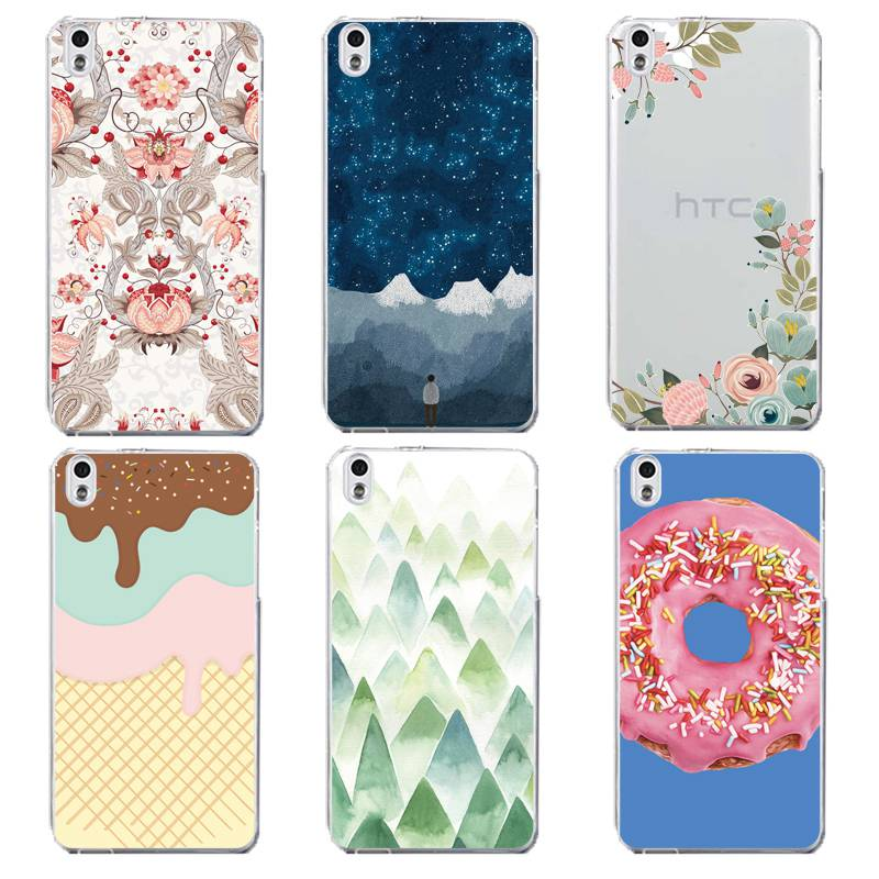 Flora Soft Clear TPU Phone Case For HTC D820 M8 M9 A9 Starry Icecream Mountain Donuts Silicone Fundas Coque Cover Free Shipping