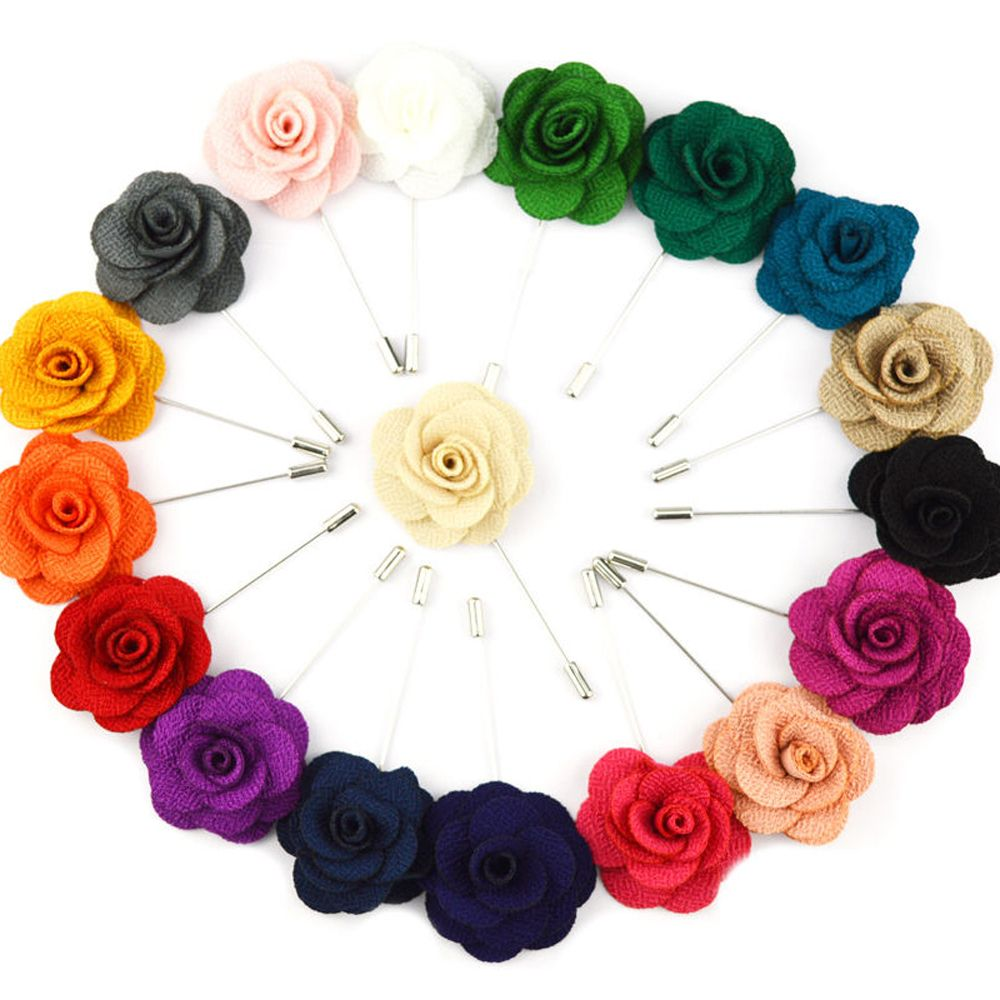 genenic 1Pcs Flower Lapel Brooch Pin Accessories Suit Gift