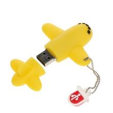 New 2019 Cute Plane Usb Flash Drive 32gb 64gb 128gb Usb Stick high quality Cartoon Pen Drive 4gb 8gb 16gb Pendrive free shipping