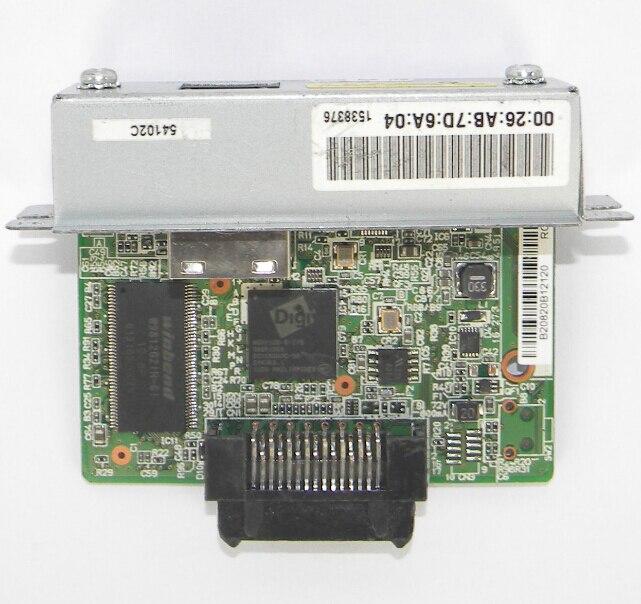 interface card FOR EPSON UB-E03 M252A Ethernet Interface Card TM Receipt Printer U288 T88IV T88V T81 T82 100pcs lot printable pvc blank white card no chip for epson canon inkjet printer suitbale portrait member pos system