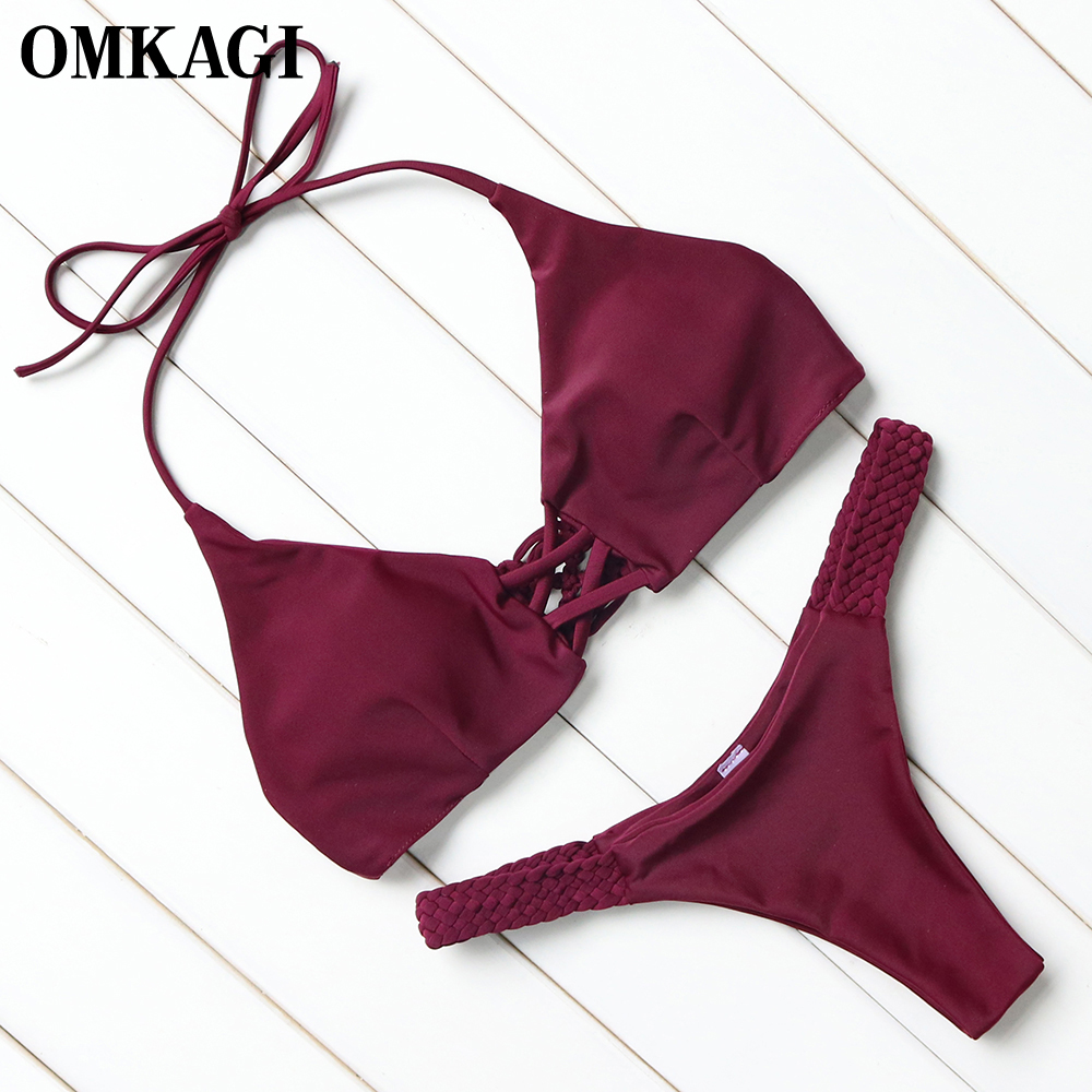 OMKAGI Brazilian Bikini 2018 Swimsuit Swimwear Women Micro Bikinis Set Sexy Push Up Female Swimming Bathing Suit Beachwear 3
