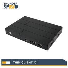 Cheap Fanless Linux Thin Client Mini PC Station X1 Dual Core 1 2G 512M RAM 2G
