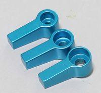 M4 M5 M6 Knob Thumb Screw head L Shape Screw head blue color (pack of Three)