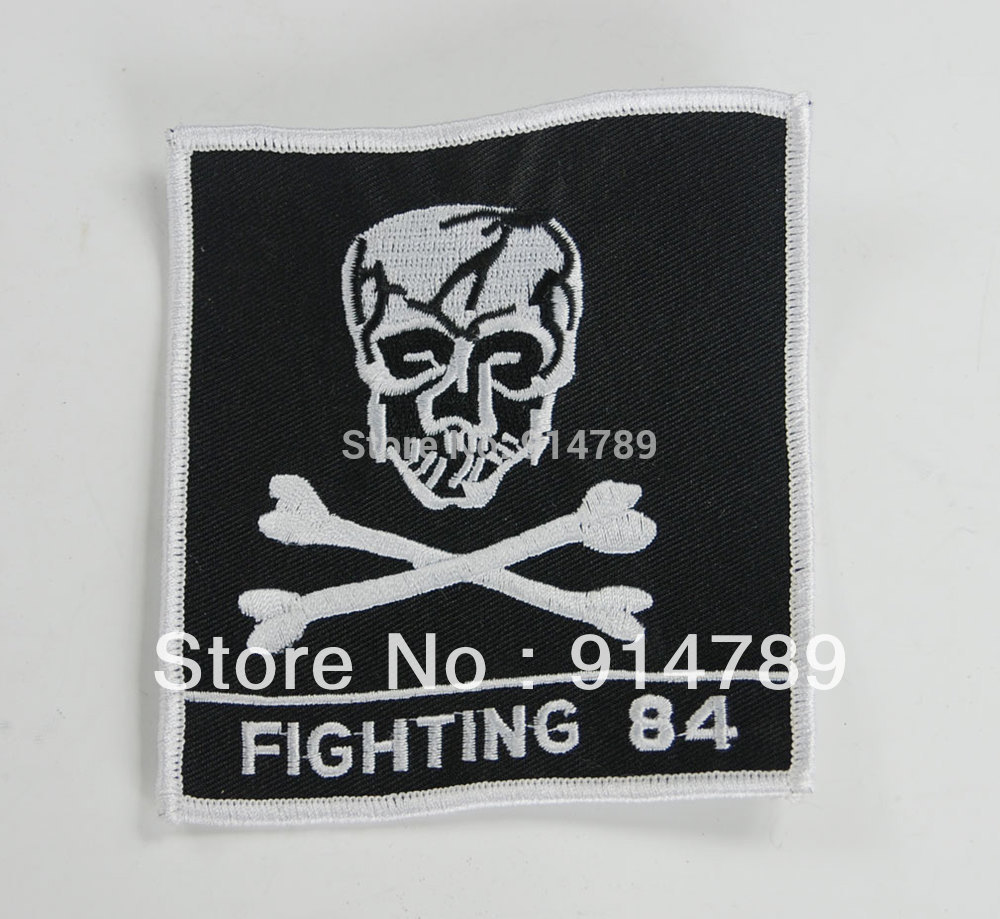 US FIGHTING 84TH ARMY AIRBORNE SKULL & CROSS BONES PATCH-32834