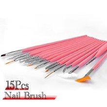 JEYL 15 шт. Nail Art Дизайн Расставить Картина Кисти Pen Tool набор Розовый Придерживайтесь DIY Fit Советы Профессиональный Ногтей Оборудование Рисование инструмент