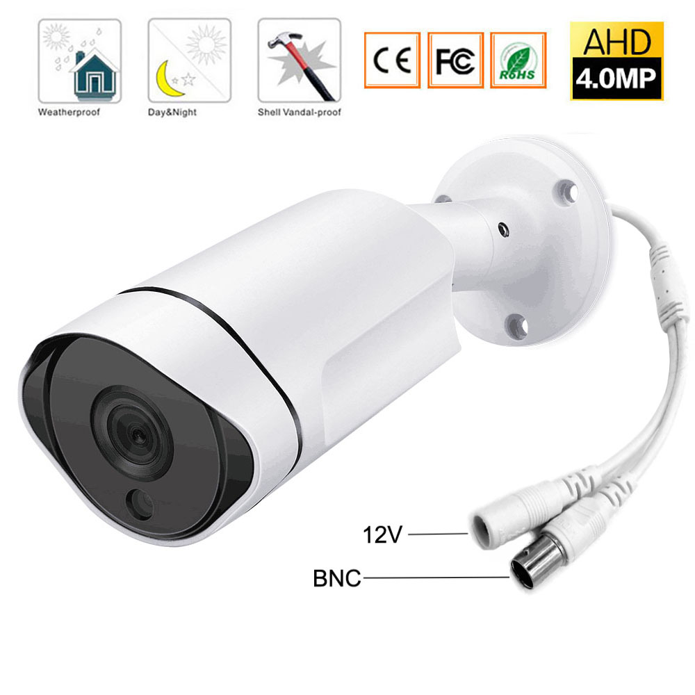 CCTV Security Surveillance HD Night Vision IR IR Range Up To 25M 4MP Full HD Outdoor / Indoor Bullet Camera 3.6mm Lens DC 12VCCTV Security Surveillance HD Night Vision IR IR Range Up To 25M 4MP Full HD Outdoor / Indoor Bullet Camera 3.6mm Lens DC 12V