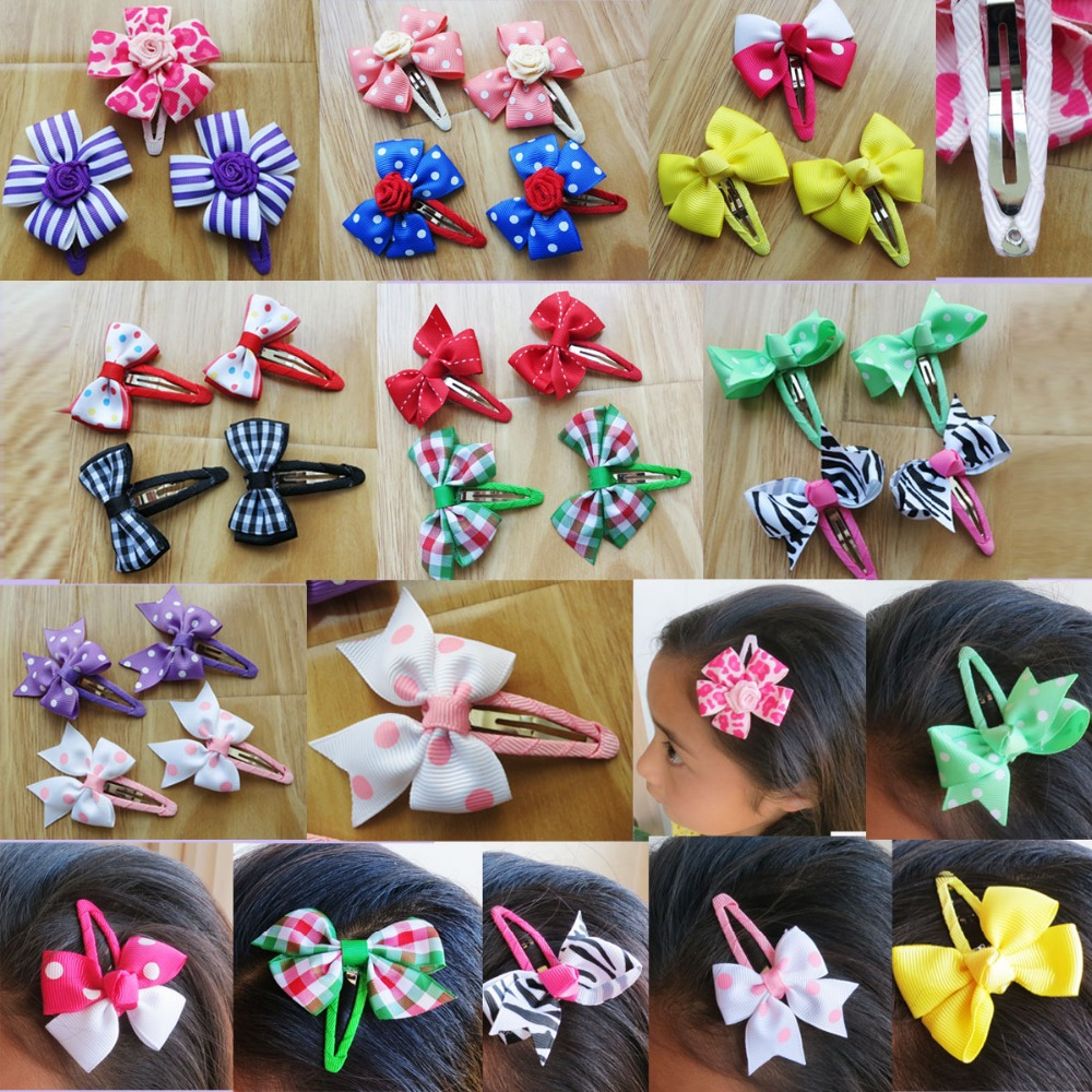 200PCS blessing Good Girl 2/2.75 New Boutique Hair Bow + Snap Clip 8 Styles 480  hair accesssores free shipping and hand customize new style20pcs blessing good girl modern style headband accessories hyacinth garland hair bow