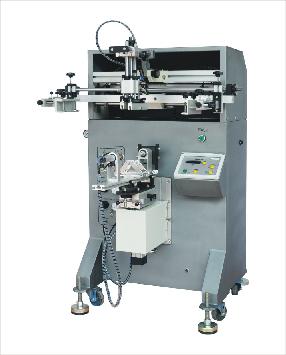 single color paper cup screen printing machine with good printing result