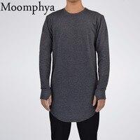 Mens Hip Hop T Shirt Full Long Sleeve T Shirt With Thumb Hole Cuffs Tees Shirts