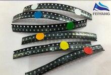 600pcs do Flash 0805 LED Diodo Mista Laranja/Vermelho/Jade Verde/Azul/Amarelo/Branco 0805 SMD LEDs Piscando Piscando Diod LEVOU