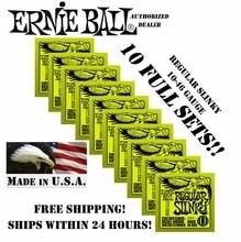 10 Упак. Ernie Ball Регулярное Обтяжку 10-46 Струны для Электрогитары 2221 (10 КОМПЛ.)(China (Mainland))