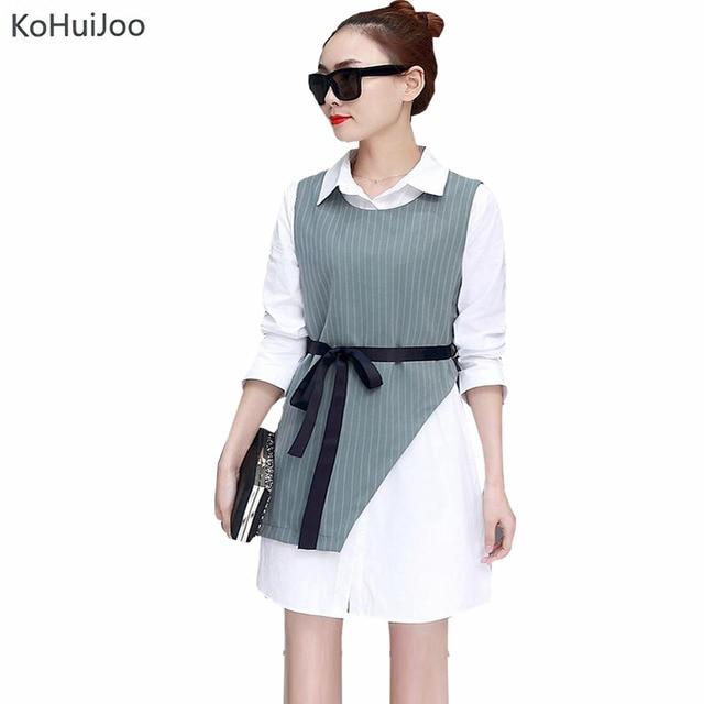 Kohuijoo 2018 Spring Ladies Two Piece Sets Fashion Women Dress Suits