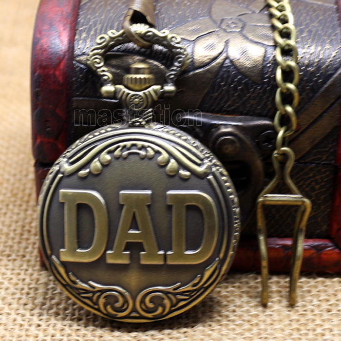 New 2014 Arrival Collection Chain Big Size DAD Hour Chest Father Dad Christmas Gift Pocket Watch P38C