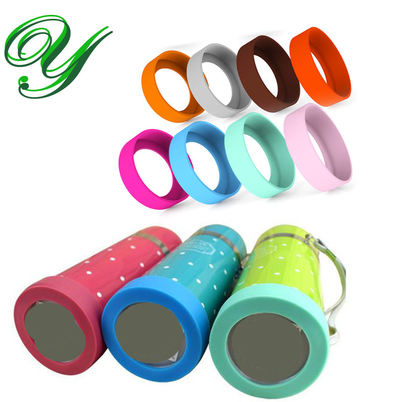 4pc Silicone Insulation Pad For Thermos Cup Nonslip