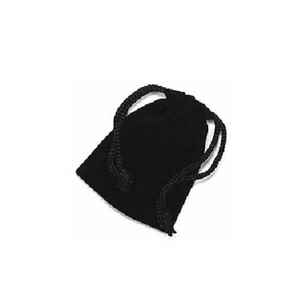 9*7 см мягкая сумка для хранения ювелирных изделий на шнурке-10 шт./компл. (черный)