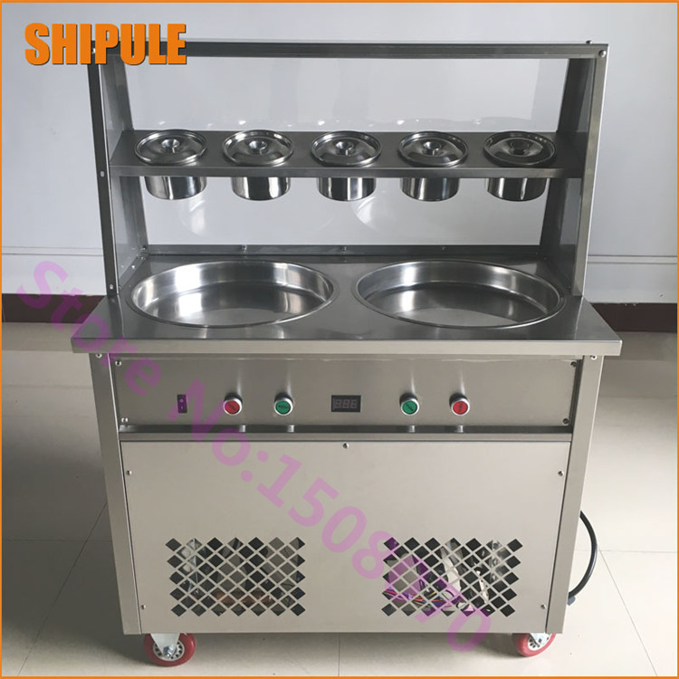 High quality Thailand ice roll machine commercial rolled fried ice cream machine fry roll ice cream machine edtid new high quality small commercial ice machine household ice machine tea milk shop