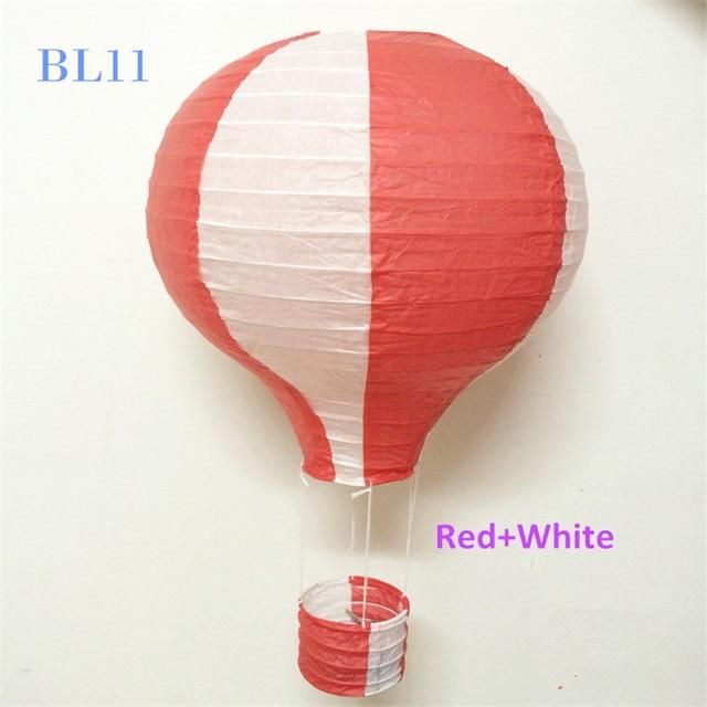 4pcs Lot 30cm 12inch Red Hanging Hot Air Balloon Lantern Paper Birthday Baby