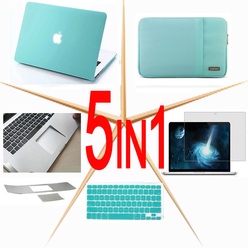5in1 Notebook Bag Hard case <font><b>Sleeve</b></font> Bag keyboard cover Screen protector For <font><b>11</b></font> 12 13 15 <font><b>inchs</b></font> Macbook Pro Air Retina Touch Bar image