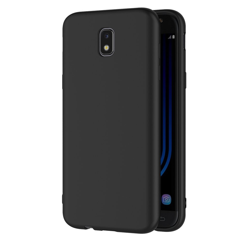 matte finish case for samsung galaxy j5 2017 soft tpu silicone gel black back slim coque case