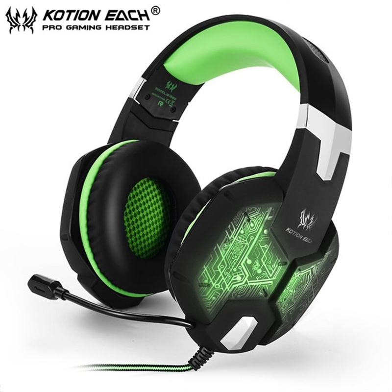 KOTION EACH G1000 Gaming headset headphone pc gamer gaming headphones with microphone LED light high quality for pc computer kotion each g2000 gaming headset pc gamer headphones headphone for computer auriculares fone de ouvido with microphone led light