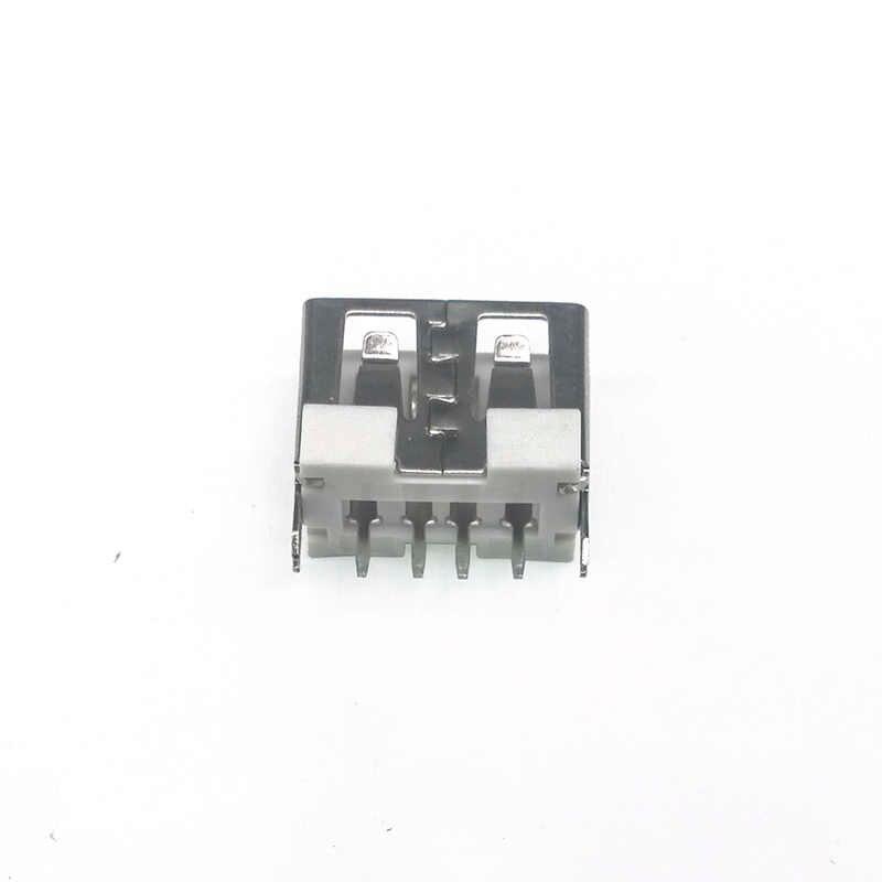 10 יח'\חבילה USB יציאת 2.0 סוג נקבה 4 פינים הכנס 4 רגל 180 שטוח תשלום תקע שקע שקע זנב חשמלי מסופי מחבר