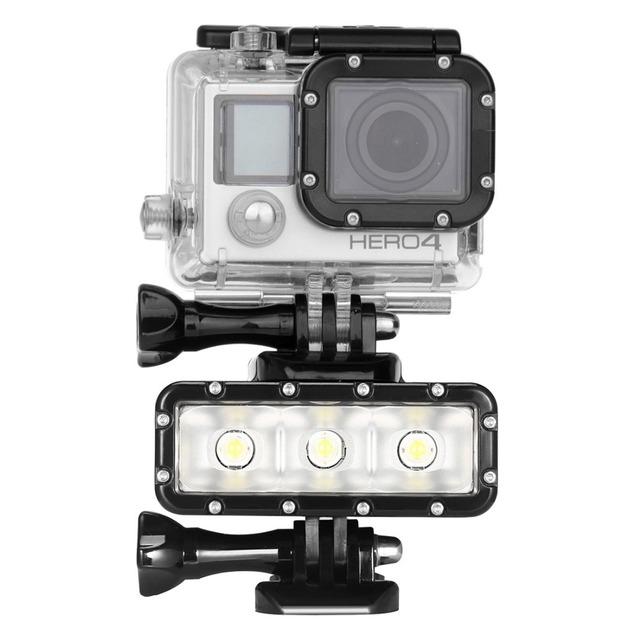 Impermeable Linterna de la Luz de Vídeo con Base de Montaje Tornillo para GoPro HERO5/hero4 sesión/hero 5/4/3/sj4000, y para xiaomi